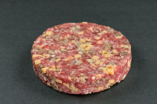 Picture of Hand-Pressed Black Angus Bacon & Cheddar Beef Burgers