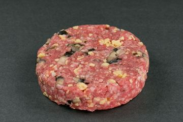 Picture of Hand-Pressed Black Angus Portobello Mushroom & Gouda Cheese Beef Burgers