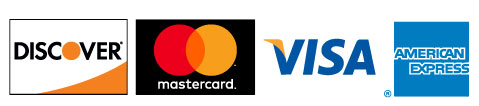 We accept Discover, MasterCard, VISA, and AmericanExpress
